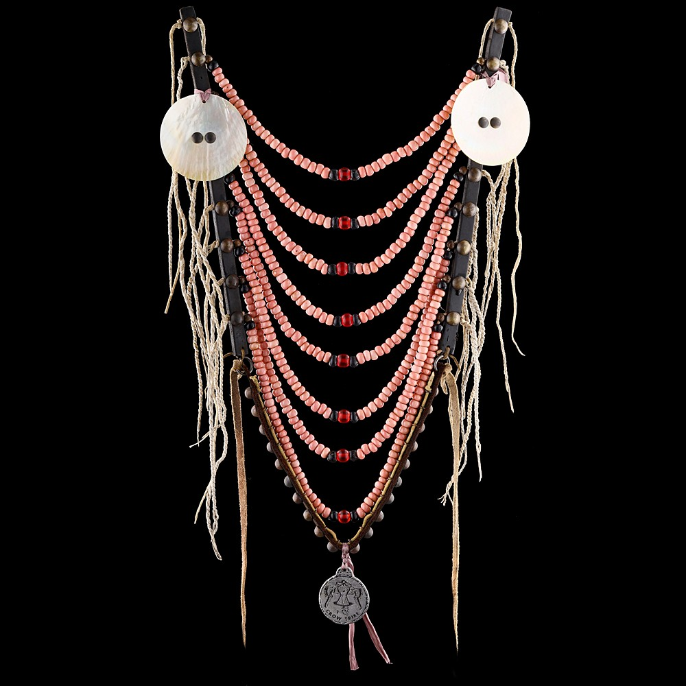 [*longtitle:ifempty=`Crow style Loop Necklace with medallions