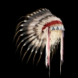 Cheyenne Feather War Bonnet (replica) 4062.09.01 (photo 1) ☩ «4 Colors»™