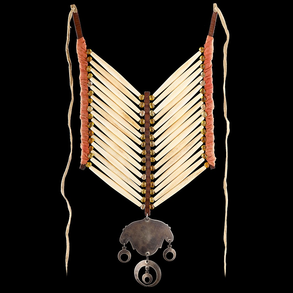 [*longtitle:ifempty=`Comanche style Bone Hairpipe Breastplate with Gorget