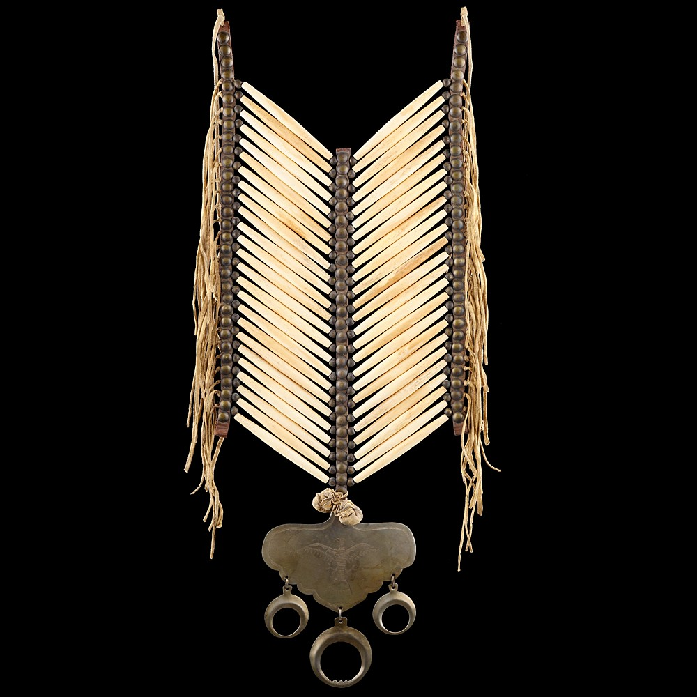 [*longtitle:ifempty=`Central Plains style Bone Hairpipe Breastplate with Gorget