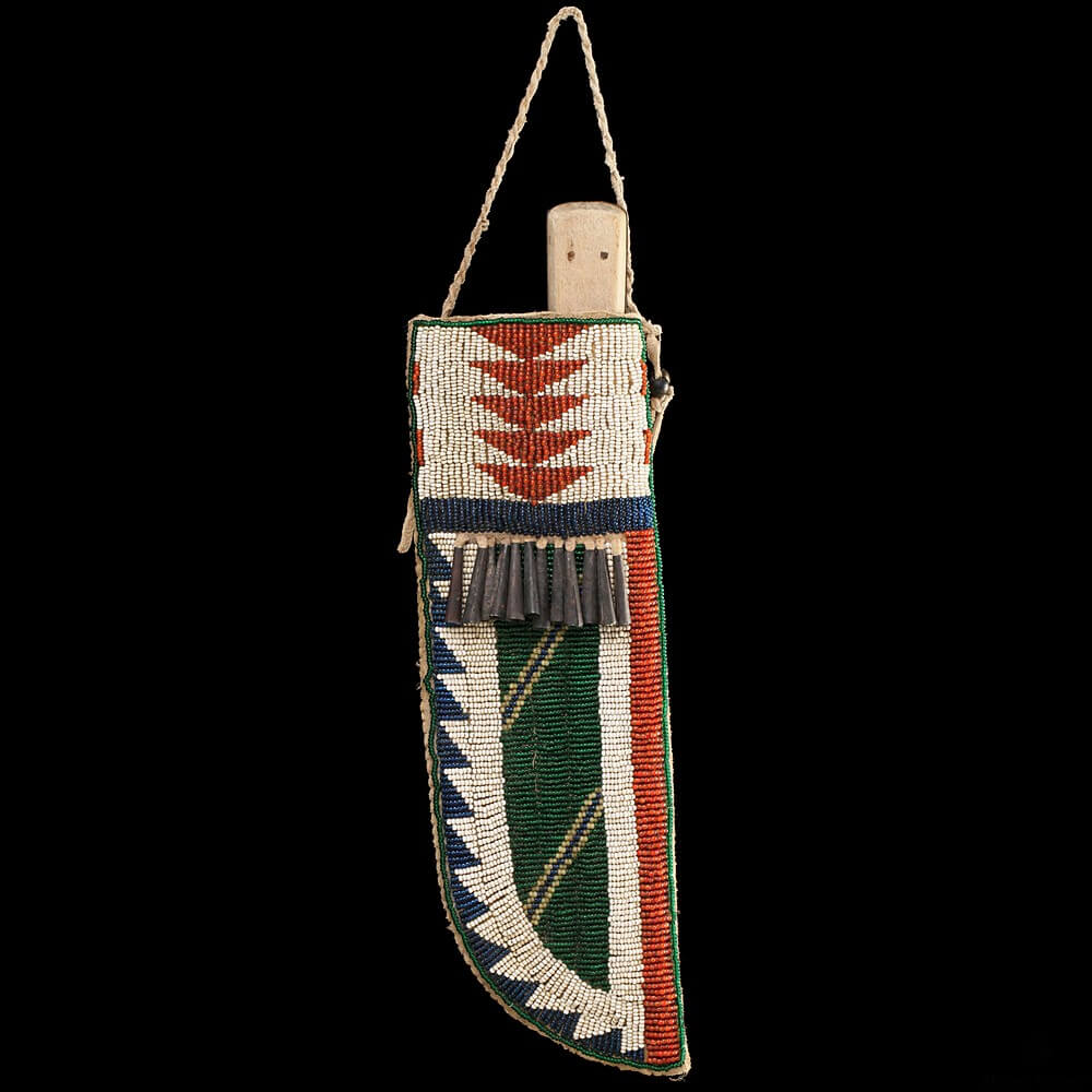 Central Plains style Beaded Knife Sheath (replica)